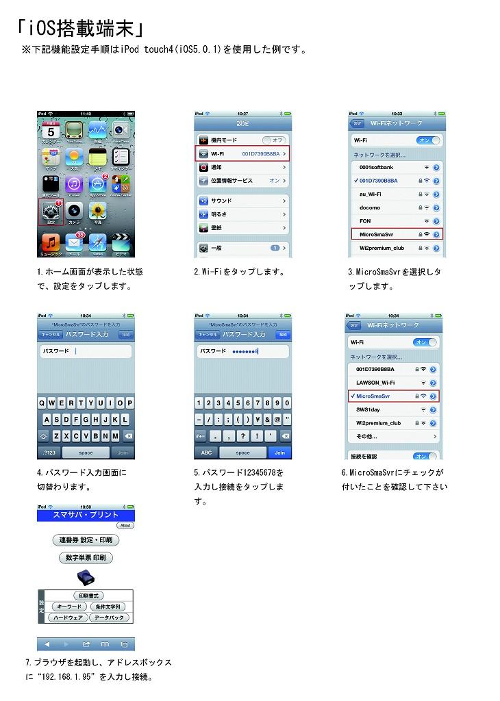 iphone/ipod/iPadへの接続方法